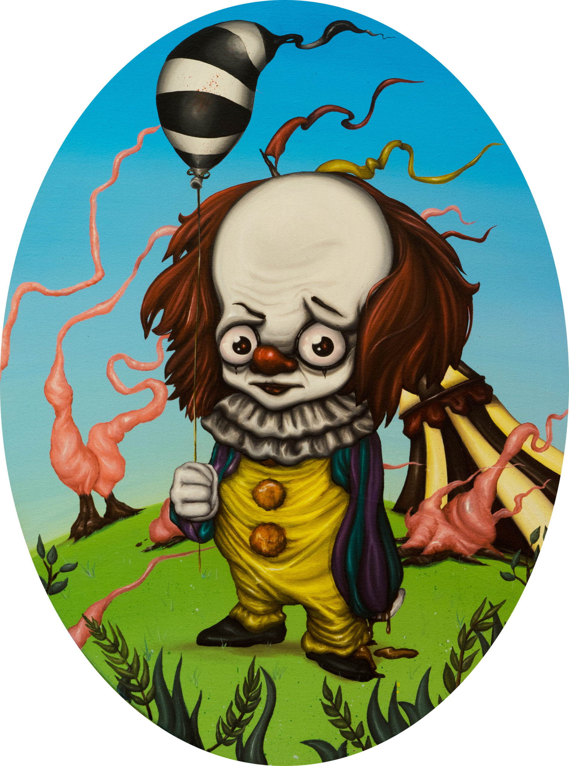 PENNYWISE, 2012, acrylic on canvas, 30×40