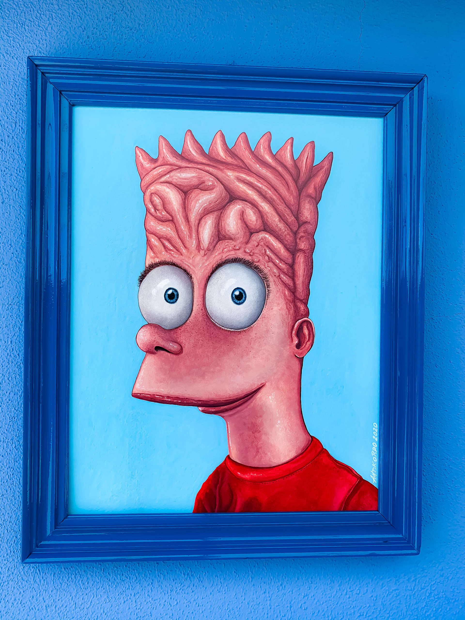 INTELLIGENT BART ACRILIC ON WOOD PANNEL 40X50cm