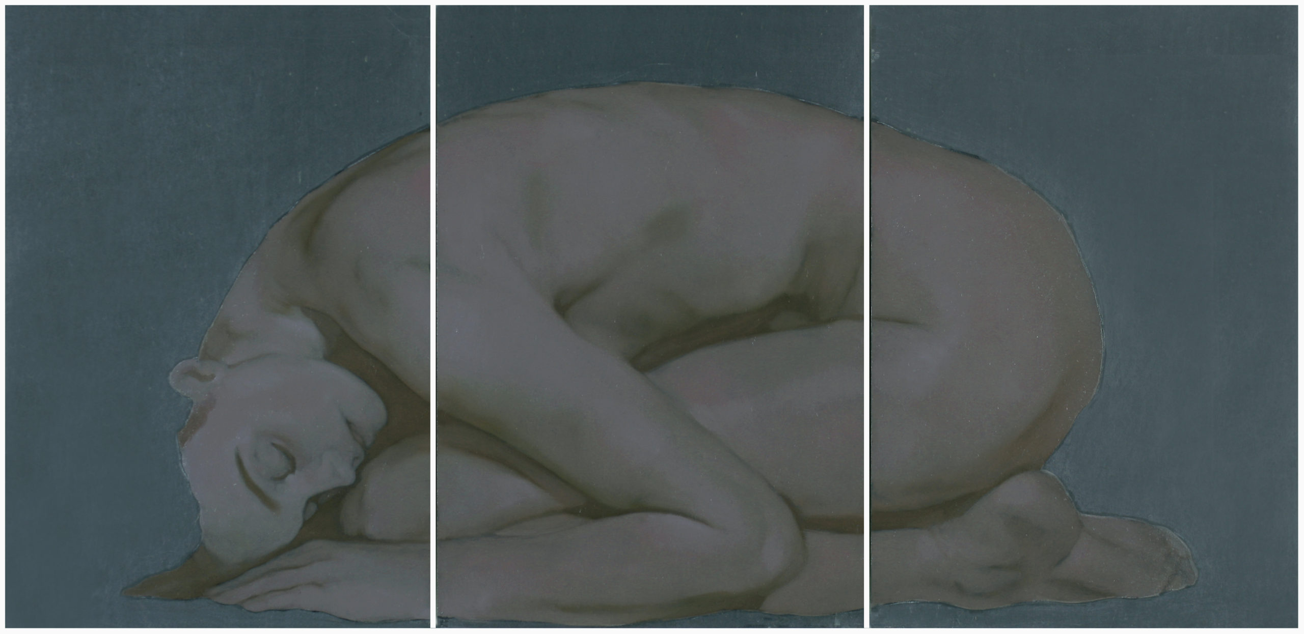 Oltre, oil on slate, 31 x 64 cm, 2020 – Private collection (Palermo)
