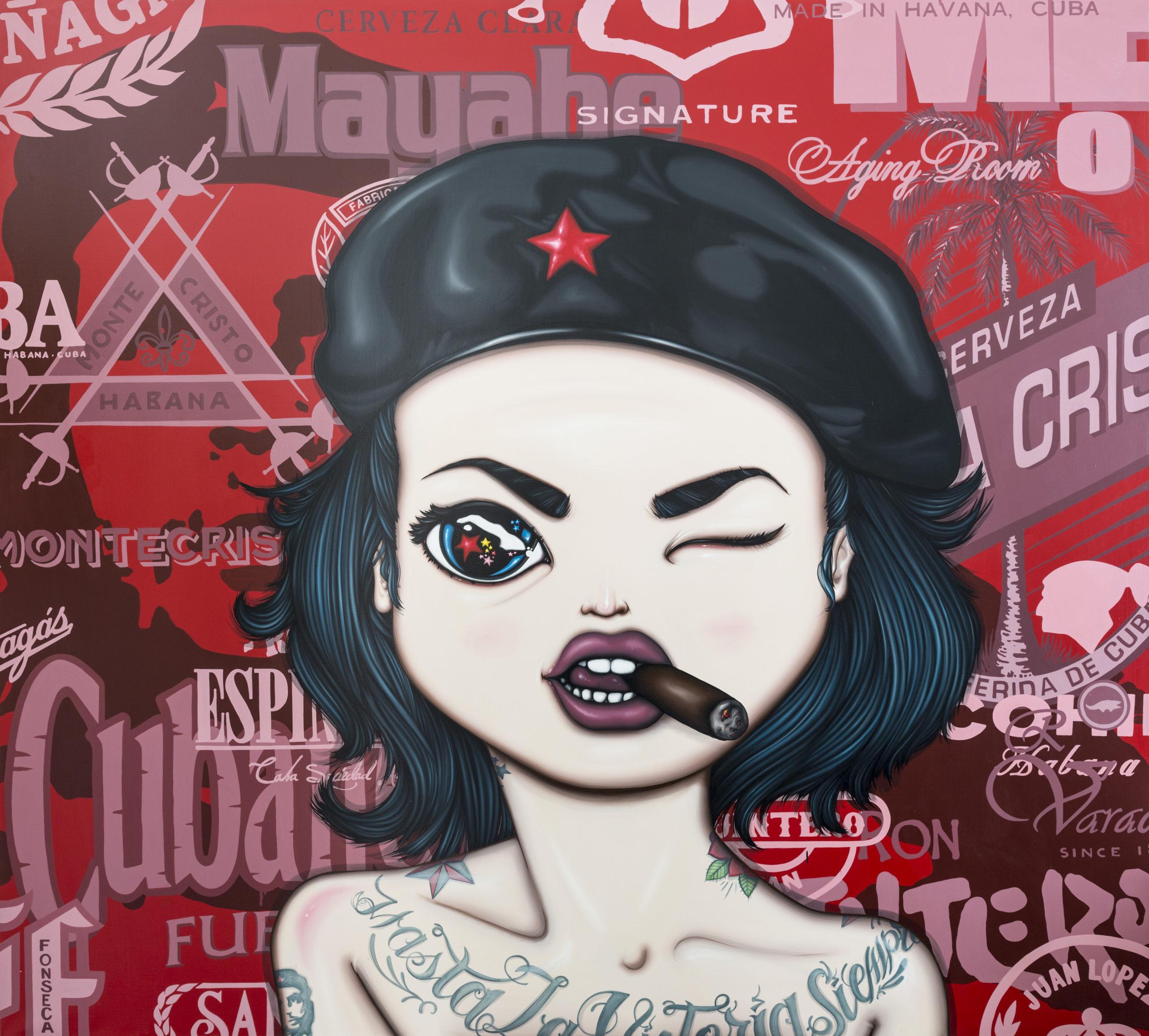 REVOLUTIONARY GIRL – 2017, acrylic on canvas, 200×180